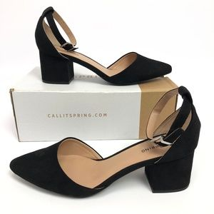 Call It Spring Womens Aiven Two-Piece Block-Heel P
